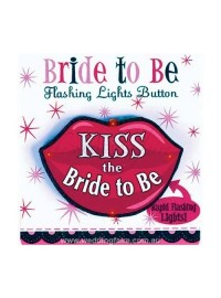 Bride to Be Flashing Lights Button