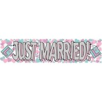 Just Married Giant Banner