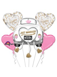 Just Married Foil Balloon Bouquet