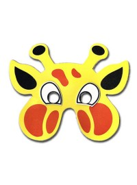 Jungle Animals Foam Mask - Giraffe