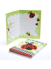 Lively Ladybugs Invitations (8)