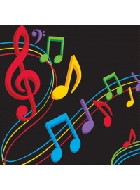 Dancing Music Notes Napkins (16)