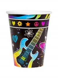 Neon Birthday Cups