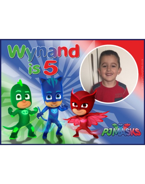 PJ Masks Personalised Sticker