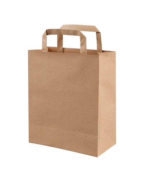 Take Away Bag with Handle - Kraft