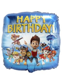 Paw Patrol Foil Balloon - Happy Birthday
