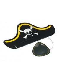 Pirate Card Hat and Eyepatch