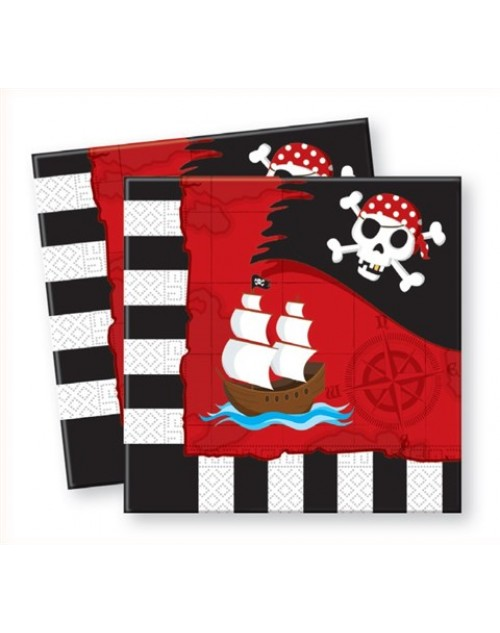 Pirate Treasure Map Napkins (20)