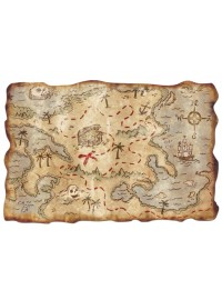 Pirates Plastic Treasure Map
