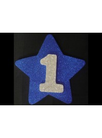 Number 1 Blue Star Poly