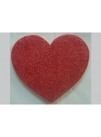 Heart Poly - Red Glitter - 20cm