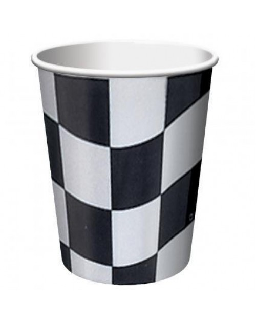 Black and White Check Cups (8)
