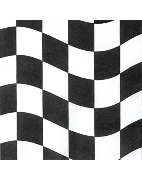 Black and White Check Napkins (18)