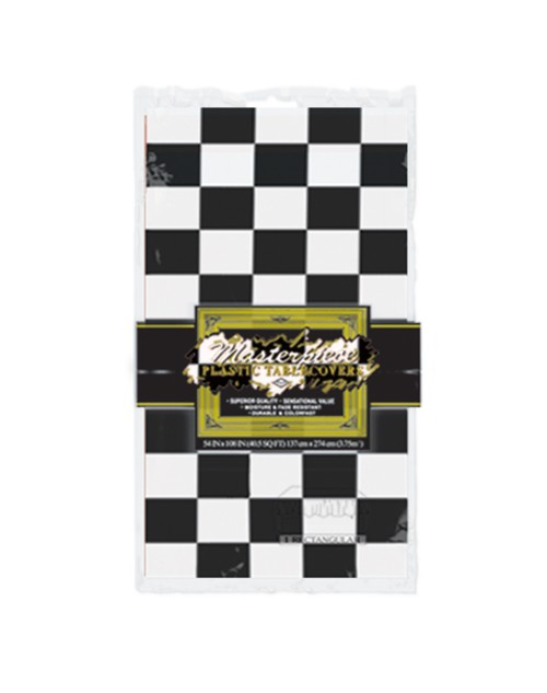 Black and White Check Tablecover