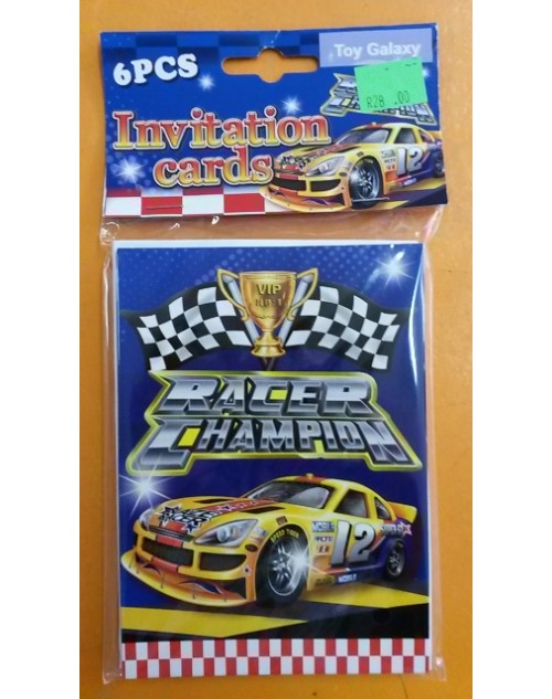 Racer Invitations (6)