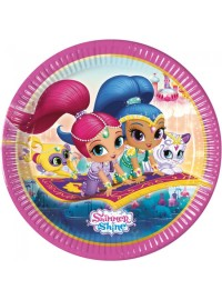 Shimmer and Shine Plates (8)