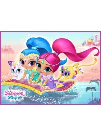 Shimmer and Shine Meal Box / Bucket Sticker