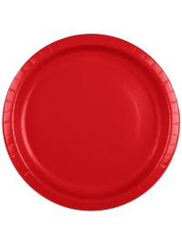Classic Red Plates (8)
