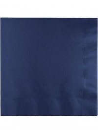 Navy Blue Beverage Napkins