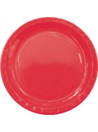 Red Paper Plates (8)
