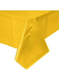 Schoolbus Yellow Plastic Tablecover