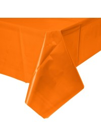 Sunkissed Orange Plastic Tablecover