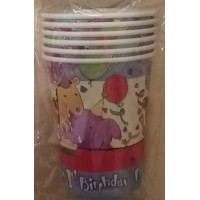 1st Birthday Animals Cups (6)