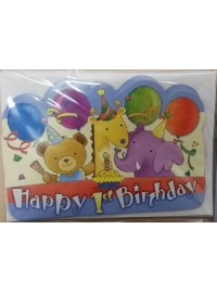 1st Birthday Animals Invitations (6)