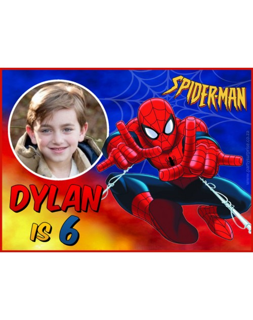 Spiderman Personalised Sticker