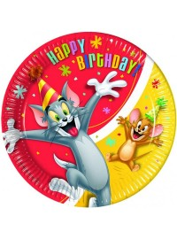 Tom and Jerry Plates (8)