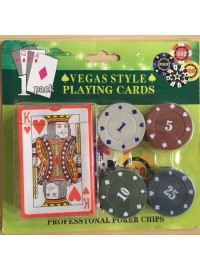 Playing Cards with Poker Chips