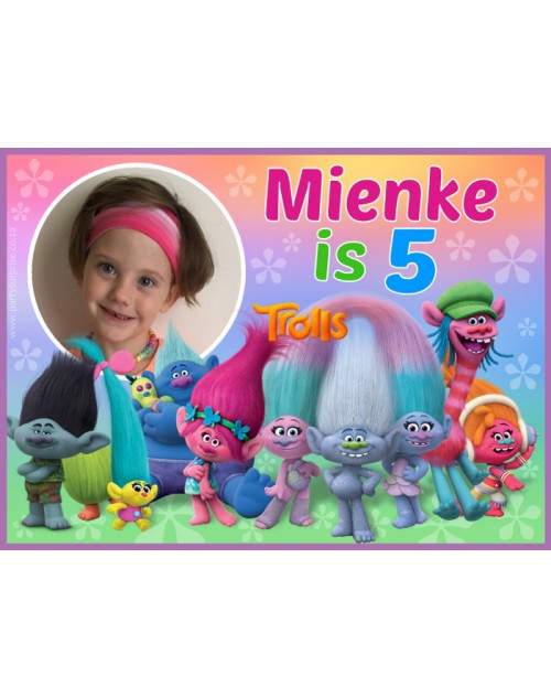 Trolls Personalised Sticker