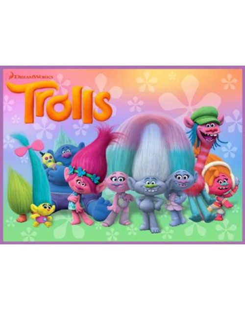 Trolls Meal Box / Bucket Sticker