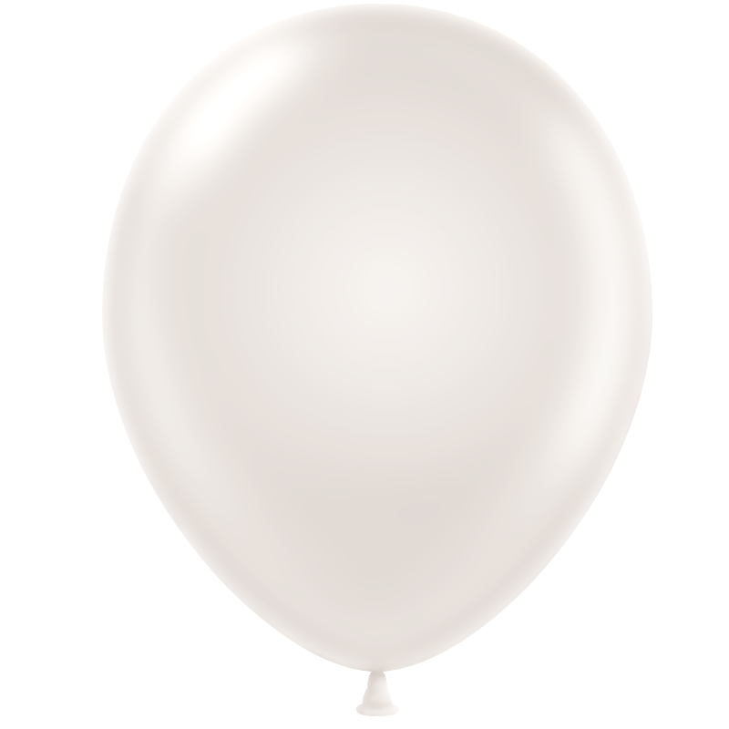 Metallic Balloon - White